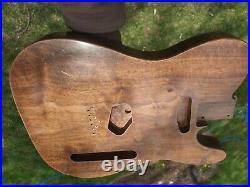 Black Walnut Tele (Finished) Fender Telecaster style Luthier Guitar Body