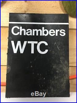 Chambers Street World Trade Center Column NYC subway sign