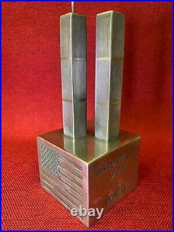 Compulsion Gallery Commemorative Statue of World Trade Center WTC 9/11 Pewter