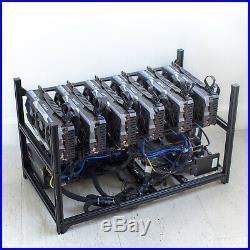 Crypto Mining Rig 6 GPU Nvidia GeForce GTX1080Ti Bitcoin Ethereum WTC BTC