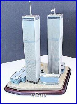 Danbury Mint 2001 Twin Towers Commemorative World Trade Center 911 l NYC NEW