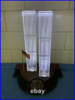 Danbury Mint Crystal Lighted Up World Trade Center