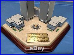 Danbury Mint Twin Towers 2001 Commemorative World Trade Center 9 / 11