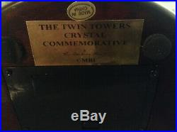 Danbury Mint Twin Towers Crystal Commemorative World Trade Center 9 / 11