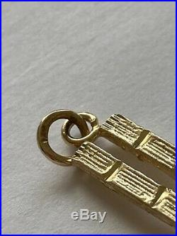 Estate 14k Yellow Gold NY World Trade Center Twin Towers Charm! 3D