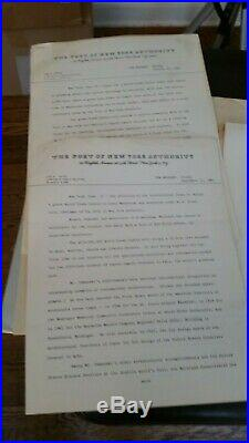 Exceptionally scarce Twin Towers WTC 1964 press packet. Photos, renderings, etc