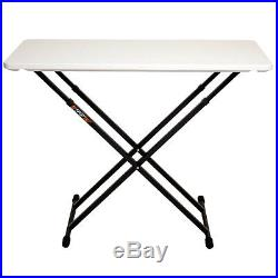 Fastset System Starter Pack White Portable DJ Table + Deluxe Carry Case