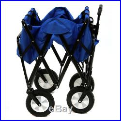 Foldable Cart Garden Mac Sports Collapsible Folding Outdoor Utility Wagon Blue