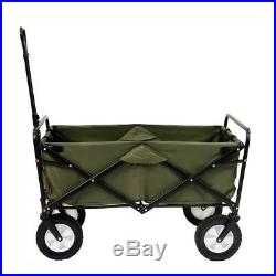 Folding Utility Wagon Outdoor Collapsible Large Portable Sport Cart Wheels Green