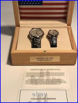 His-Hers 9/11 World Trade Center Memorial Watches. Never Worn, Collectors Edition