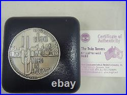 ISRAEL FOREVER REMEMBERED WTC 9/11 2001 TWIN TOWERS STATE MEDAL 50mm 62g SILVER