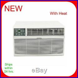 Koldfront 12,000 BTU Wall Air Conditioner 3.4 kW Electric Heat/Cool 220V