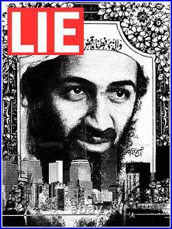LIE 9/11 Osama Bin Laden WTC aelhra shepard fairey obey giant brainwash banksy