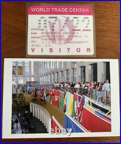 LOT World Trade Center KEY + VISITOR PASS + ARCHITECT + LOBBY PHOTO New York