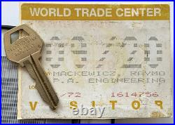 LOT World Trade Center KEY + VISITOR PASS + ARCHITECT PHOTO New York 911 RARE