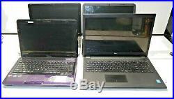 LOT of 4 Laptop (Toshiba L645D, Gateway Q5WTC, HP15-r210dx, Dell Inspiron 15)