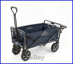 MAC Sports Wagon BLUE with Picnic Tray Table Bonus Folding Beach Cart