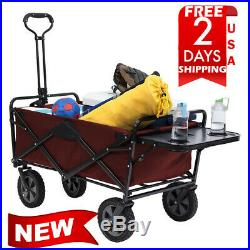 MAC Sports Wagon Picnic Tray Table Bonus Folding Beach Cart Garden utility col