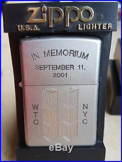 MEGA Selten Zippo World Trade Center In Memorium Street Chrome A Few Made RAR