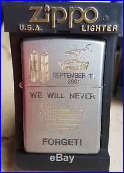 MEGA Selten Zippo World Trade Center We Will Never Forget Street Chrome RAR