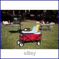 Mac Sports Collapsible Folding Frame Outdoor Garden Utility Wagon Cart, Black