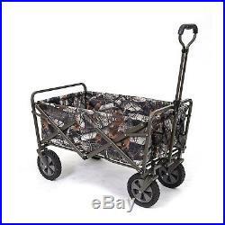 Mac Sports Collapsible Folding Outdoor Garden Utility Wagon Cart, Camouflage