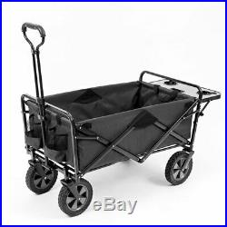 Mac Sports Collapsible Folding Outdoor Garden Utility Wagon Cart with Table, Grey