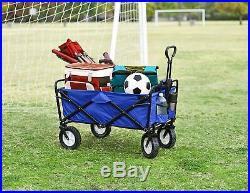 Mac Sports Collapsible Folding Outdoor Utility Wagon, Blue FASTSHIP