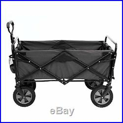 Mac Sports Collapsible Outdoor Utility Wagon with Folding Table and Drink Holder