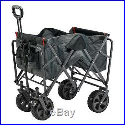 Mac Sports Folding Wagon with Cargo Net 300 Pound Capacity All-Terrain Wheels