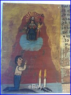 Mexican Retablo Ex Voto WORLD TRADE CENTER SURVIVOR 9/11 HOLY INFANT ATOCHA