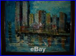 Morris Katz Painting of twin towers. World Trade Center Painting