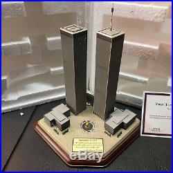 NEW Danbury Mint 2001 Twin Towers Commemorative World Trade Center 9/11 Memorial