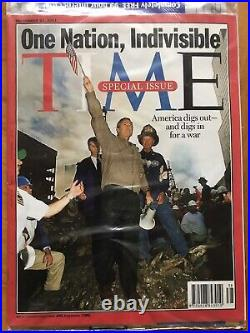 NEW Sealed TIME Magazine X 2 Sept 11 2001 Special, Twin Towers, WTC, One Nation