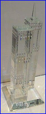 NEW YORK CITY WORLD TRADE CENTER TWIN TOWERS Crystal Figurine $550 MSRP NYC 9/11