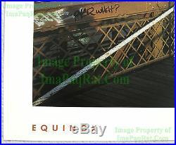 NITF Vintage NIKE Running Poster WTC Equinox Brookly Bridge NYC SIGNED