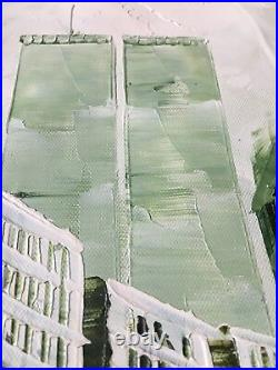 NYC Abstract Oil Painting On Canvas TWINS TOWER WORLD TRADE CENTER
