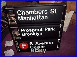 NY SUBWAY SIGN NYC TIMES SQUARE WORLD TRADE CENTER BROOKLYN JFK 42nd ROLL SIGN