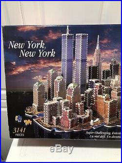 New York New York Puzz 3D Wrebbit Puzzle Kit 3141 Pieces World Trade Center