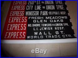 Ny Nyc Bus Roll Sign Brooklyn Wall Street World Trade Center L. I Jewish Hospital