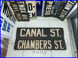 Ny Nyc Subway Roll Sign Canal Chinatown Chambers Street Manhattan Tribeca Wtc