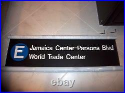 Ny Nyc Subway Roll Sign E World Trade Center Parsons Jamaica Financial District