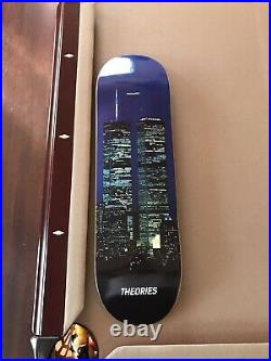 Nyc Twin Towers Theories Skateboard World Trade Center New York City Deck Rare