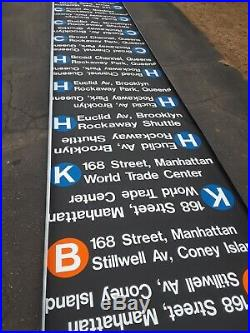 Nycta Route Roll Sign R-44 Nyc Subway Bmt World Trade Center Jfk Airport 1988