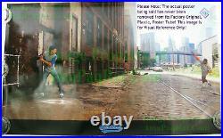 OLD STOCK NIKE Poster STICKBALL Dale Murphy Dwight Gooden WTC Brooklyn Bridge