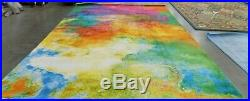 ORANGE / GREEN 9' X 12' Back Stain Rug Reduced Price 1172589346 WTC619D-9