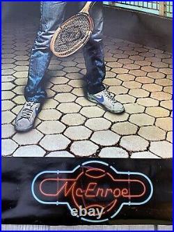 Original 1982 John McEnroe Nike Poster Features Brooklyn Bridge & WTC