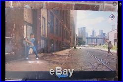Original 1985 Nike Poster STICKBALL Gooden/Murphy WTC NOS withFOIL Label