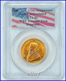 PCGS 2000 WTC 9-11-01 ground zero 1/2 oz gold Krugerrand
