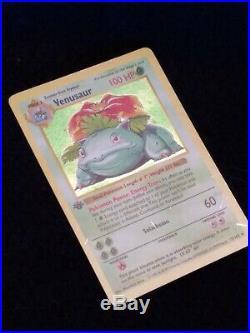 Pokemo 1st Edition Shadowless Holofoil Venusaur, Base set, WTC 15/102